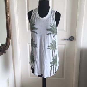 Chaser palm tree open back muscle tee